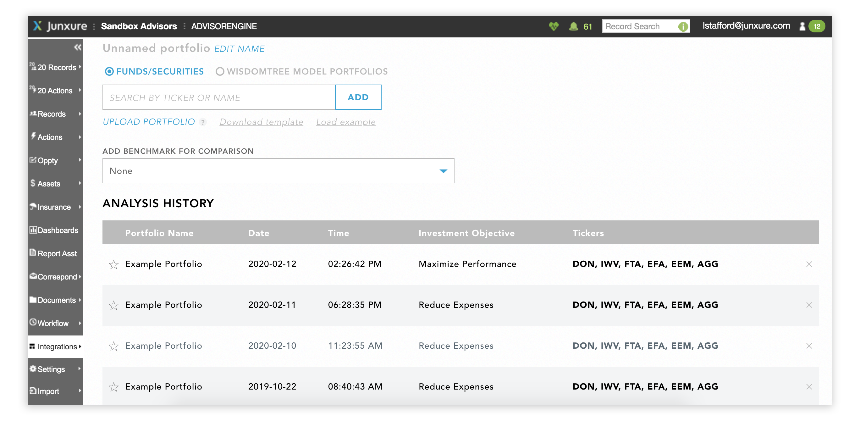 AdvisorEngine CRM Module Integration