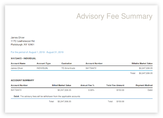 AdvisorEngine FeeBilling Module 2