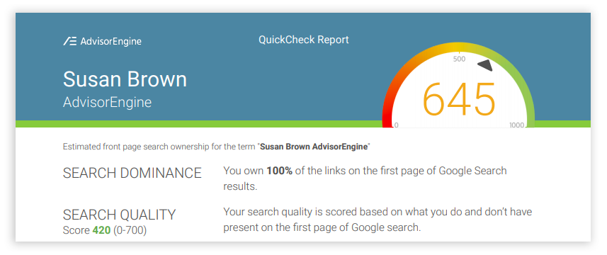 AdvisorEngine Marketing Module QuickCheck