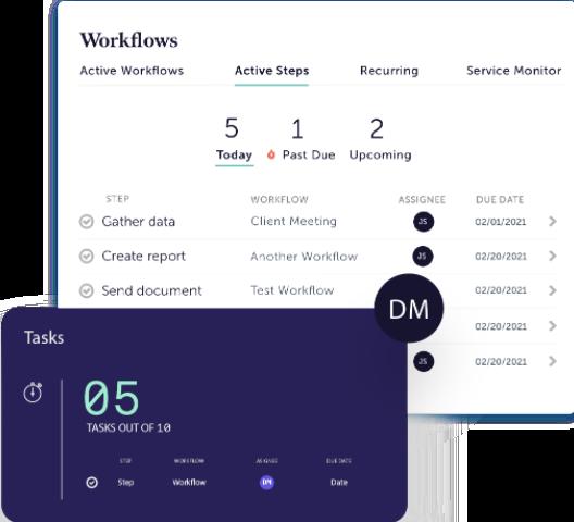 AdvisorEngine Wealth Management Technology - Junxure CRM Workflows