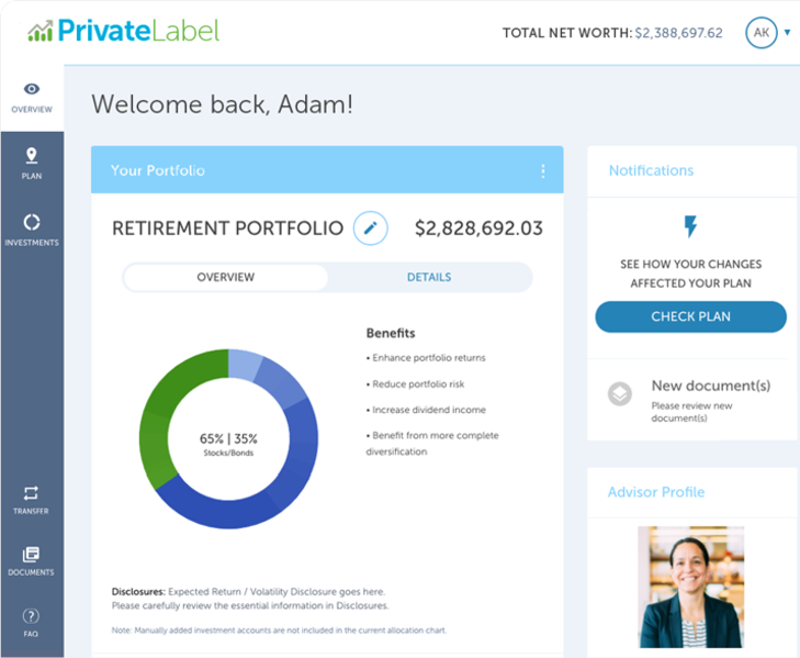 AdvisorEngine Wealth Management Technology - Client Portal